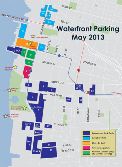 BB&T Pavilion Parking