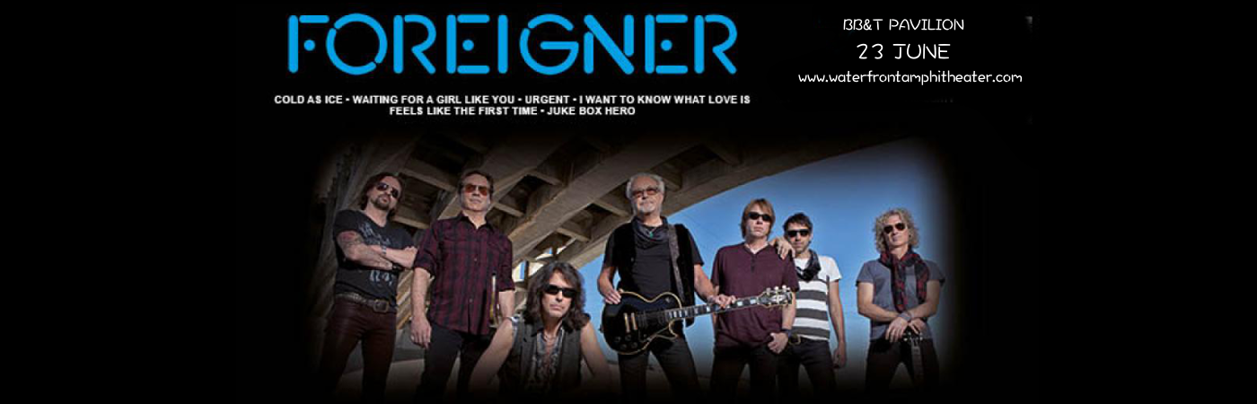 Foreigner Tickets 23rd June Bb Amp T Pavilion At Camden
