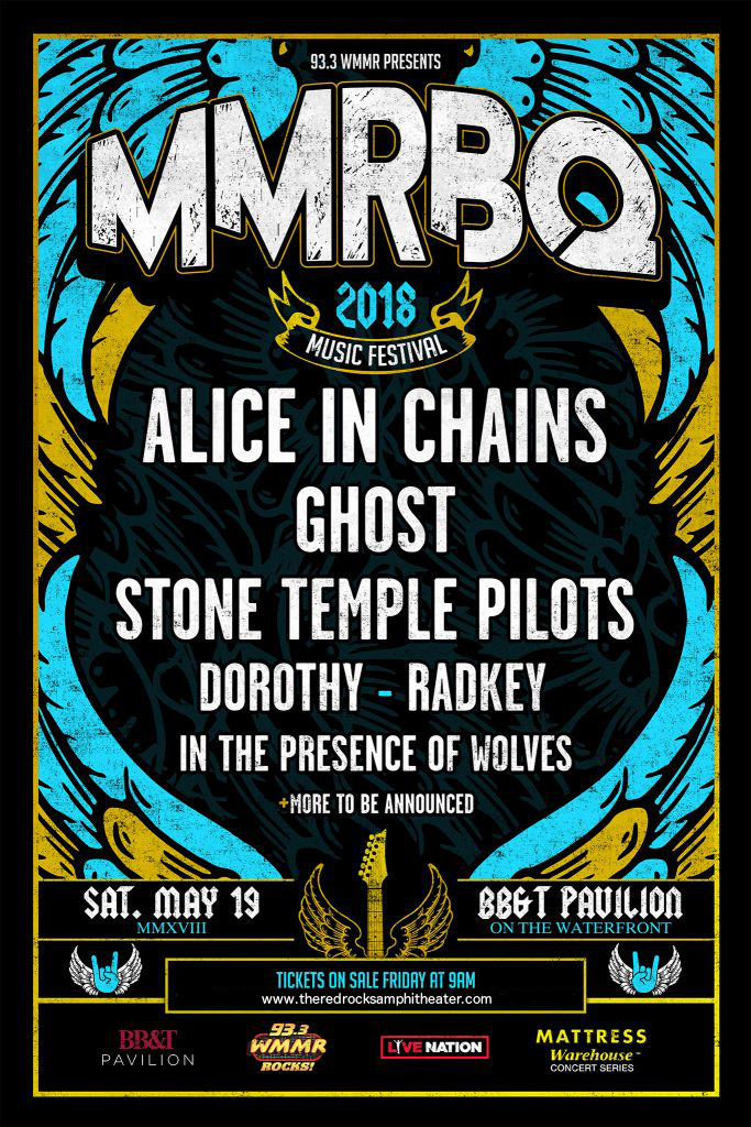 MMR*B*Q: Alice In Chains, Ghost B.C., Stone Temple Pilots & Dorothy  at BB&T Pavilion