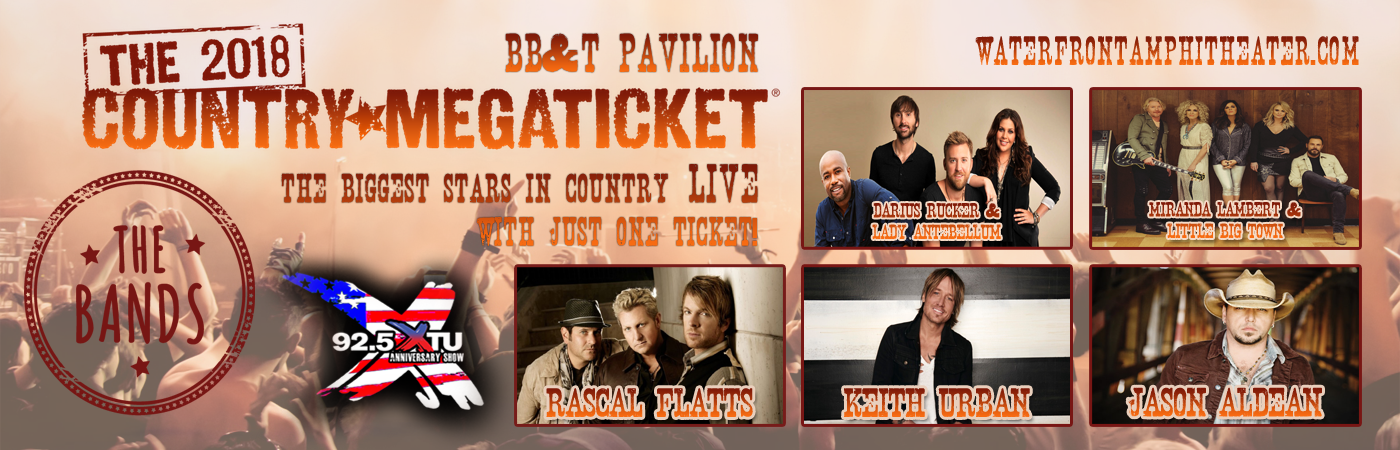 2018 Country Megaticket Tickets (Includes All Performances) at BB&T Pavilion