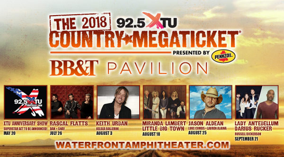 2018 Country Megaticket Tickets Includes All Performances At BBT Pavilion