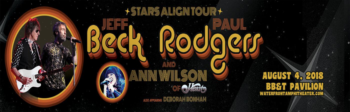 Jeff Beck Paul Rodgers Amp Ann Wilson Tickets 4th August