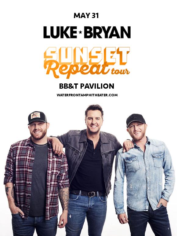 Luke Bryan, Cole Swindell & Jon Langston. at BB&T Pavilion