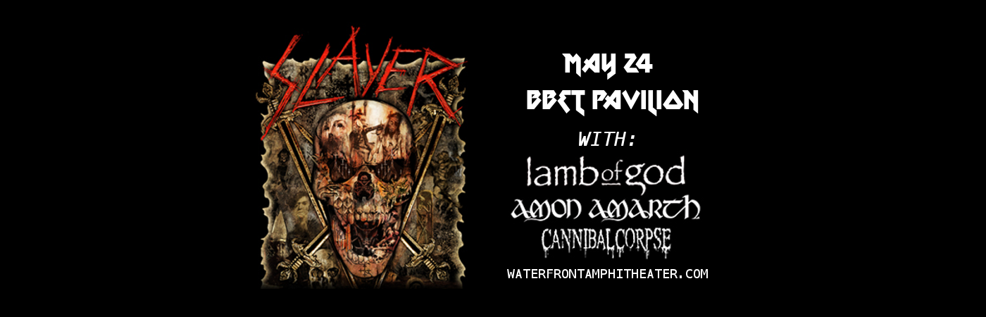 Slayer Tickets 24th May Bb Amp T Pavilion At Camden New