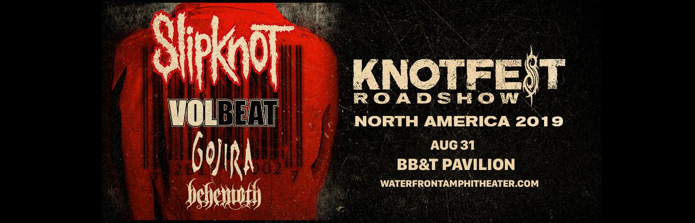 Slipknot, Volbeat, Gojira & Behemoth at BB&T Pavilion