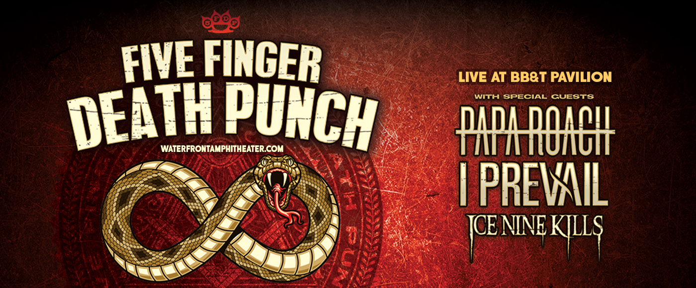 Five Finger Death Punch, Papa Roach, I Prevail & Ice Nine Kills at BB&T Pavilion