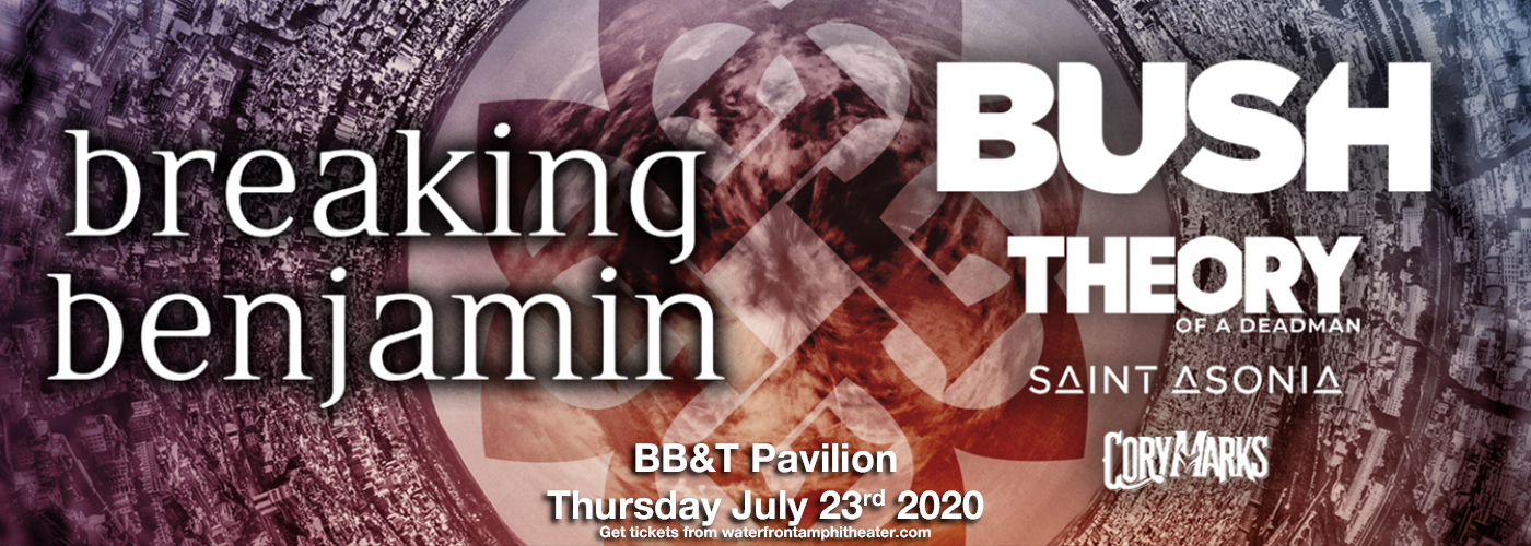 Breaking Benjamin & Bush [CANCELLED] at BB&T Pavilion