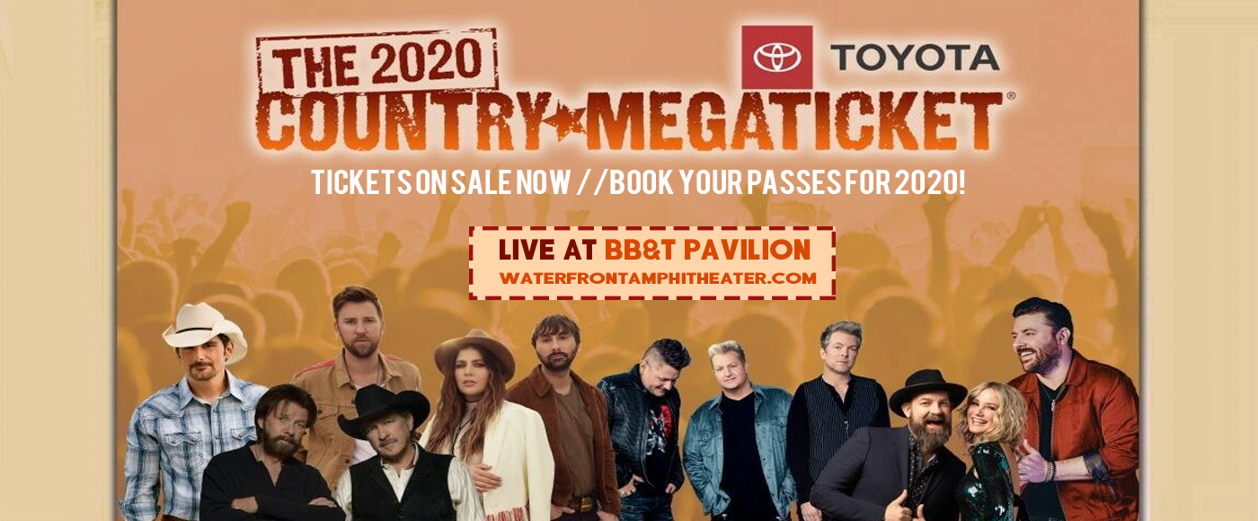 Country Megaticket (Includes Tickets To All Performances) [CANCELLED] at BB&T Pavilion