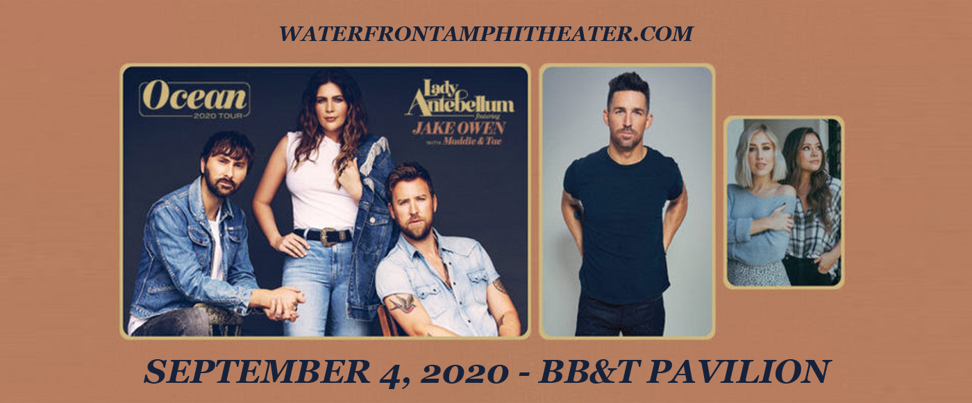 Lady Antebellum, Jake Owen & Maddie and Tae [CANCELLED] at BB&T Pavilion